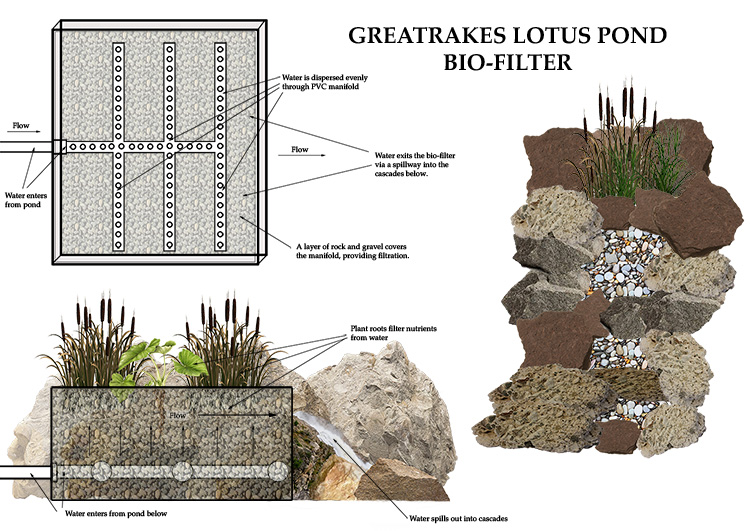 Greatrakes Lotus Pond Bio Filter plan